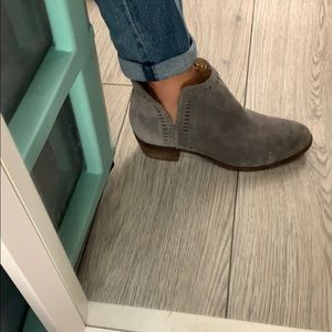 Gray Suede Ankle Booties - Lucky Brand